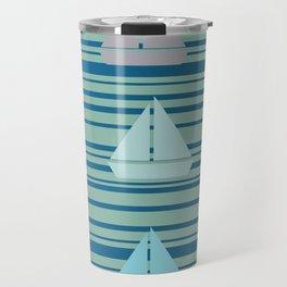 Boats & Stripes Travel Mug