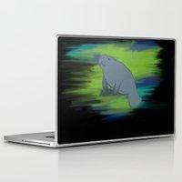 manatee Laptop & iPad Skins featuring manatee by JadeRose