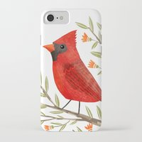 cardinal iPhone & iPod Cases featuring Cardinal by Stephanie Fizer Coleman