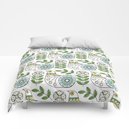 Mid Century Danish Bird Comforters