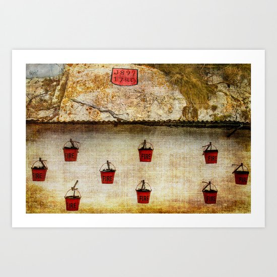 Gibraltar Fire Buckets Art Print