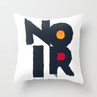 noir Throw Pillows featuring Noir by sonsofwolves