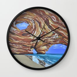 In The Cleft Wall Clock