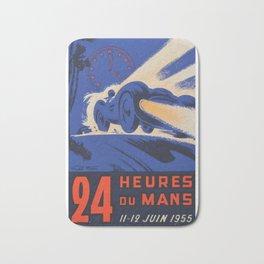 1955 Le Mans poster, vintage car poster, Le Mans poster, Bath Mat
