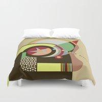 bauhaus Duvet Covers featuring Bauhaus I by Lanre Studio