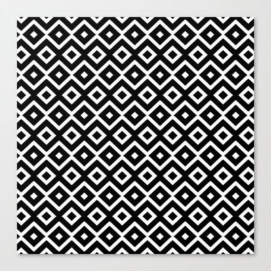 B&W Maze Canvas Print