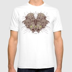 Wet Cats White Mens Fitted Tee SMALL