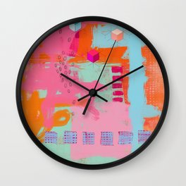 almost there - abstract painting Wall Clock