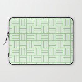 Basketweave (Light Green & White Pattern) Laptop Sleeve
