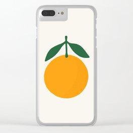 Orange Summer Citrus Clear iPhone Case