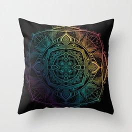 Sirius mandala Throw Pillow
