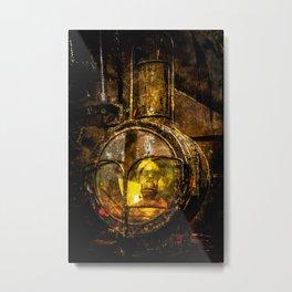 Vintage Steam Engine Locomotive - The Headlight Metal Print