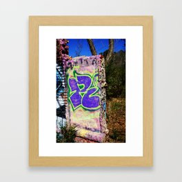 R Graffiti Wall Framed Art Print