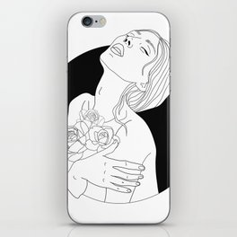 flowers are in her soul iPhone Skin