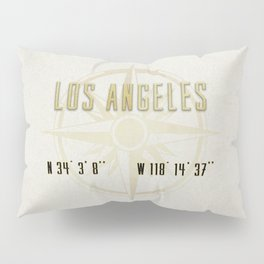 Los Angeles - Vintage Map and Location Pillow Sham