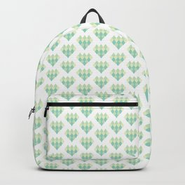 Ombre Heart Pattern Backpack