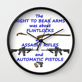 Ban Assault Rifles and Automatic Weapons Wall Clock