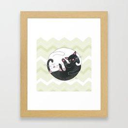 Cat Philosophy Framed Art Print