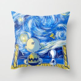 Friends of stars Throw Pillow