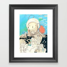 Logic will get you from A to B. Imagination will take you everywhere. Framed Art Print