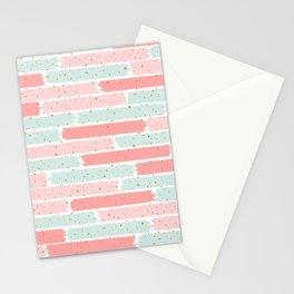 Pink & Green Geometric Gym Pattern Stationery Cards