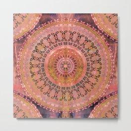 Mango Mandala Metal Print