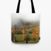 fog Tote Bags featuring FOG by Avigur