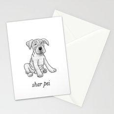 Dog Breeds: Shar Pei Stationery Cards