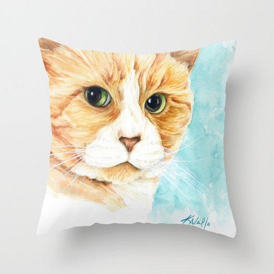Stan the grumpy cat Throw Pillow