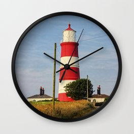 Happisburgh Lighthouse Norfolk  Wall Clock