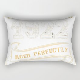 95th-Birthday-Gift-Gold-Vintage-1922-Aged-Perfectly Rectangular Pillow
