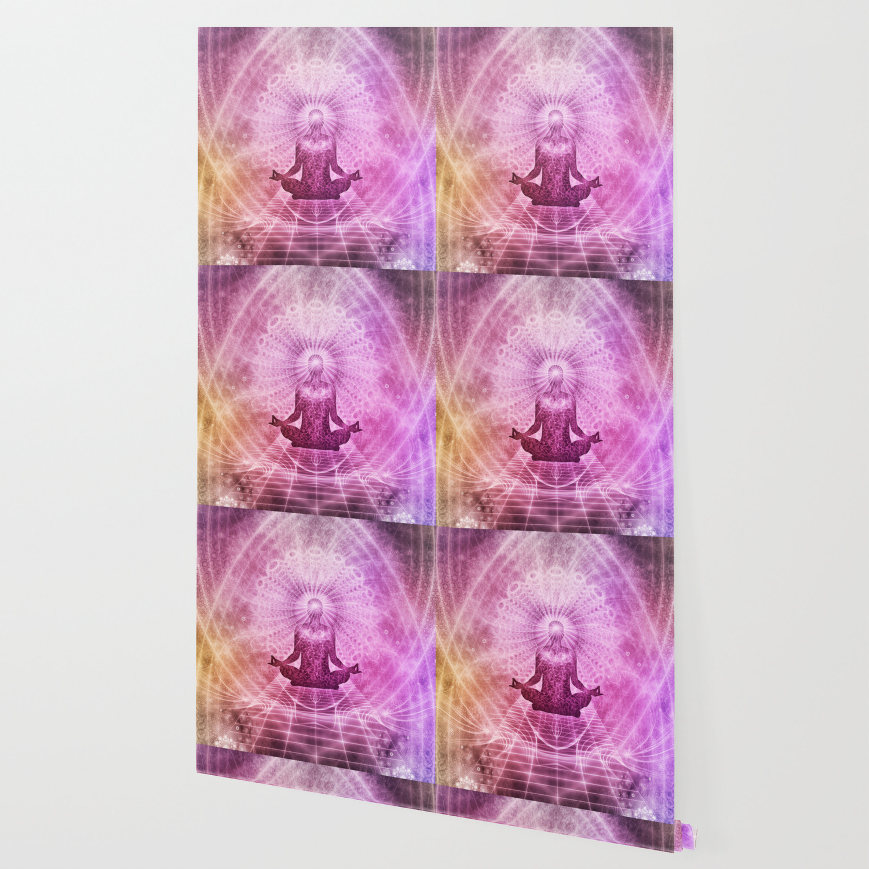 Spiritual Yoga Meditation Zen Colorful Wallpaper By Shirtsandgifts Society6