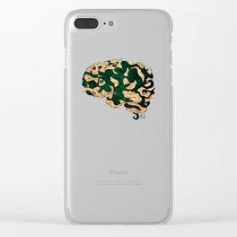 Tentacled Brain Clear iPhone Case