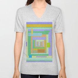Cabana, summer colors in geometric stripes Unisex V-Neck