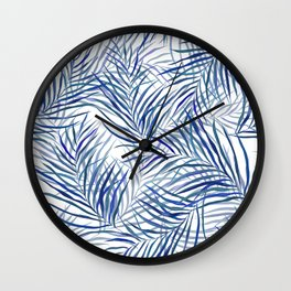 Blue Palms Wall Clock