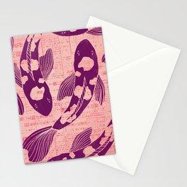 Koi Woodblock Stationery Cards