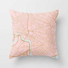 Cambridge map, Massachusetts Throw Pillow