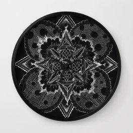 Divine Intention 5: Solar Black & White Wall Clock