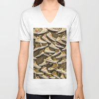 shoe V-neck T-shirts featuring Shoe Art by SotirisFilippou_Photography