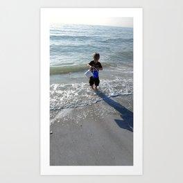 Gentle Surf feels good on my toes Art Print