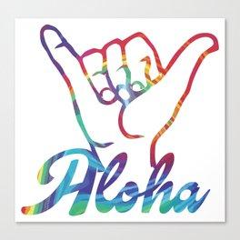 Shaka Hands Aloha, colorful sticker Canvas Print