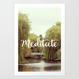 Meditate in the park Art Print