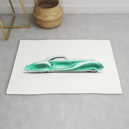 Vintage 1934 emerald green Packard Eight 2/4-Passenger Coupe Rug