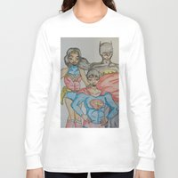 dc Long Sleeve T-shirts featuring DC: Trinity by aka-noodle