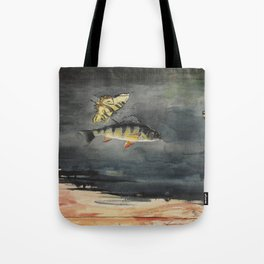 Vintage Winslow Homer Fish & Butterfly Painting (1900) Tote Bag