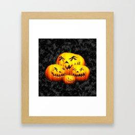 Cute Pumpkin Family Framed Art Print