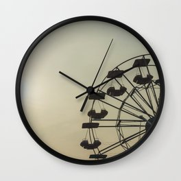 Ferris wheel in a Luna Park shortly before sunset in autumn Wall Clock