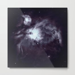 Orion Nebula Pewter Gray Metal Print