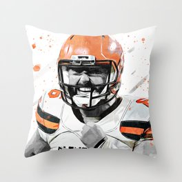 Mayfield American Football Print American Football Wall Art American Football Poster American Football Wall Decor Poster Throw Pillow