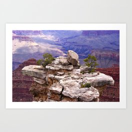 Grand Canyon's little island Art Print